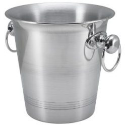 Aluminium Wine Bucket With Ring Hdls  3.25Ltr