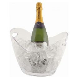 Clear Plastic Champagne/Wine Bucket Small