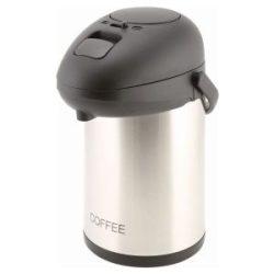 Coffee Inscribed St/St Vacuum Pump Pot 2.5L