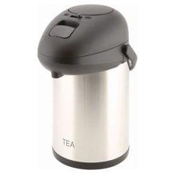 Tea Inscribed St/St Vacuum Pump Pot 2.5L