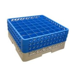 Genware 49 Comp Glass Rack With 3 Extenders