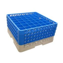 Genware 49 Comp Glass Rack With 4 Extenders