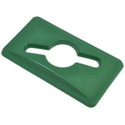 Green Glass Lid For Slim Recycling Bin