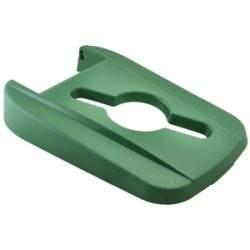 Green Open Lid For Grey Recycling Bin 85L