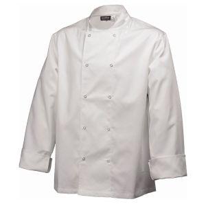 Basic Stud Jacket (Long Sleeve) White S Size