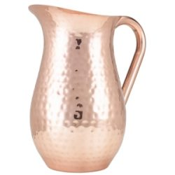 GenWare Hammered Copper Plated Water Jug 2L/67.6oz