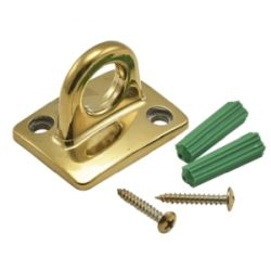 Brass Plated Wall Attachment For Barrier Rope