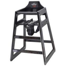 Wooden High Chair - Dark Wood