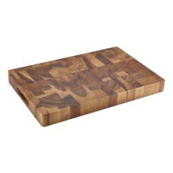 """Acacia Wood End Grain Chopping Board 18 x 12 x 1.75"""""""