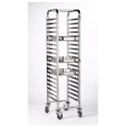 St/St. Gastronorm 1/1 Trolley 20 Shelves