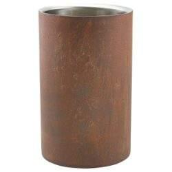 Rust Effect Wine Cooler 12cm Dia x 20cm High