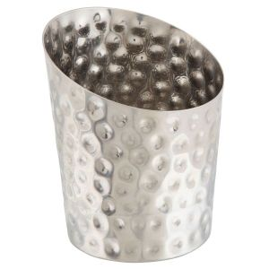 Hammered Stainless Steel Angled Cone 9.5 x 11.6cm (Dia x H)