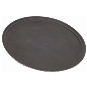 "Gengrip 27"" Oval Non-Slip Tray Black"