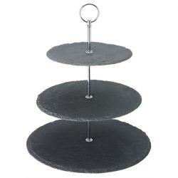 """3 Tier Slate Platter 12, 10, 8"""" (30, 25, 20cm)"""