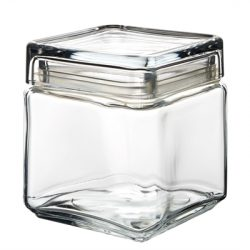 Square Biscotti Jar 1L
