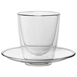 Double - Walled Cappuccino Cup and Saucer 7.75oz