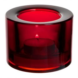 Chunky Tealight Holder - Red