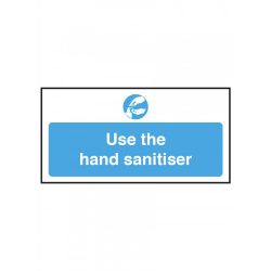 100x200mm Use the hand sanitiser, self adhesive vinyl