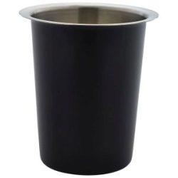 GenWare Stainless Steel Black Cutlery Cylinder