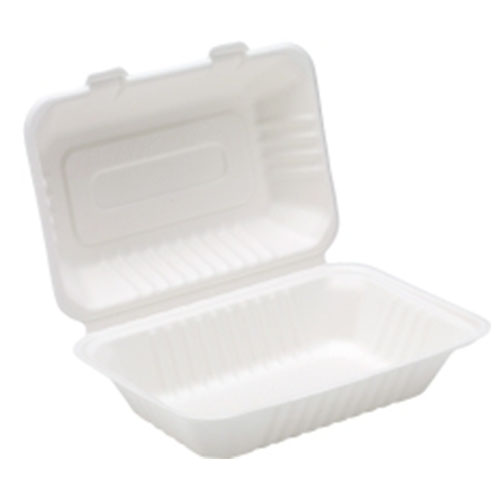 Bagasse Clamshell Meal Box
