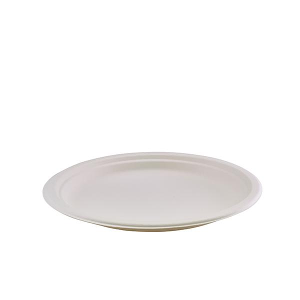 "GenWare Compostable Bagasse Plate 26cm/10.25"" (50pcs)"