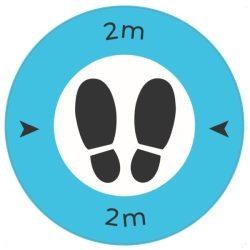 Safe Distance 2 Metre Floor Graphic (Pack of 10)