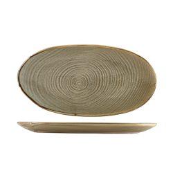 Terra Porcelain Grey Organic Platter 31cm
