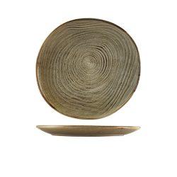 Terra Porcelain Grey Organic Plate 25cm