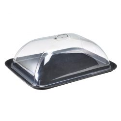"""GenWare Polycarbonate Rectangular 15 x 20"""" Tray Cover"""