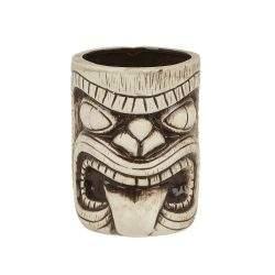 3408 Ceramic Toscano Lono Tiki Mug 450ml - Light & Coffee Brown - 1