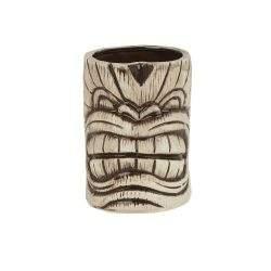 410 Ceramic Toscano Kanaloa Tiki Mug 450ml - Light & Coffee Brown