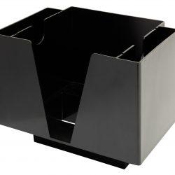3473 3 Part Bar Organiser Black