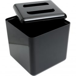 Square Ice Bucket APPROX 5 Litres - 8.8 Pint - LID ASKEW