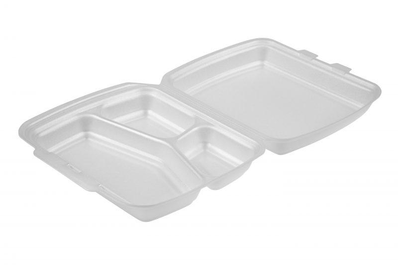 Foam Food Box 3 Compartment
