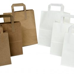 Flat handled Kraft food bags