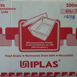 Uniplas 500ml Microwaveable Food Container