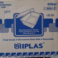 Uniplas 650ml Microwaveable Container