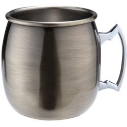Antique Brass Plated Curved Moscow Mule Mug