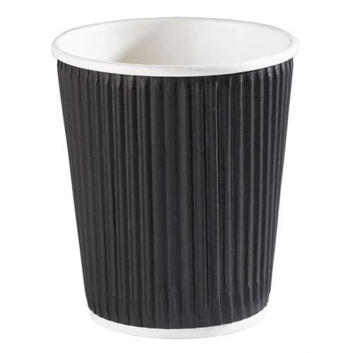 Black Ripple Paper Cups