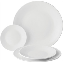 Anton Black Tableware - Coupe Plates