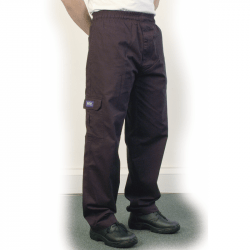 Black Baggy Chef Trouser