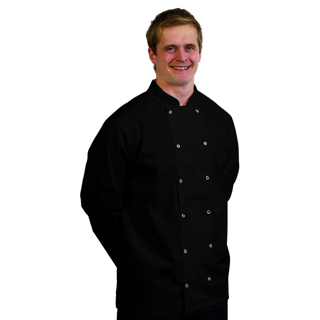 Black Long Sleeved Chef Jackets.