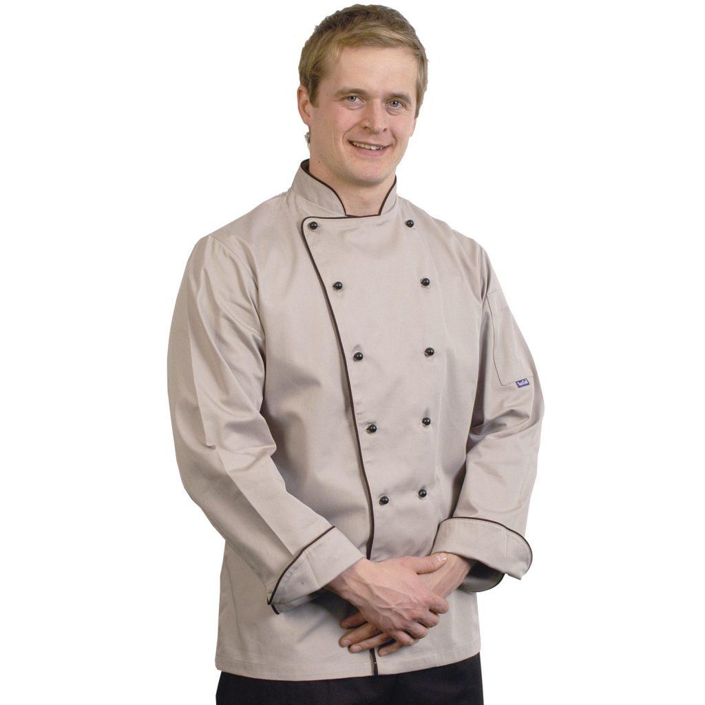 Grey Long Sleeved Chef Jackets