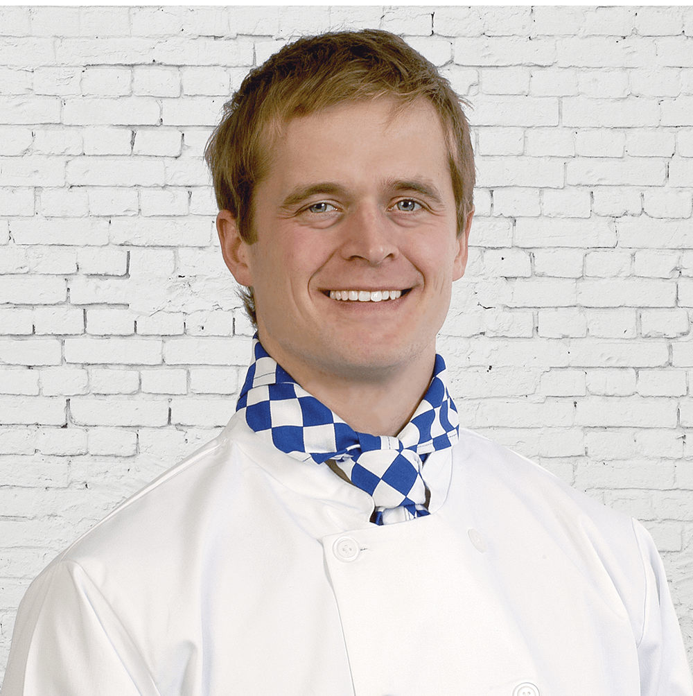 Chef Large Blue Check Neckerchief N008