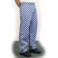 Large blue check baggy