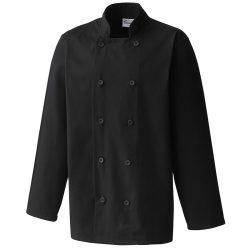 Mens Long Sleeve Chef's Jacket Black