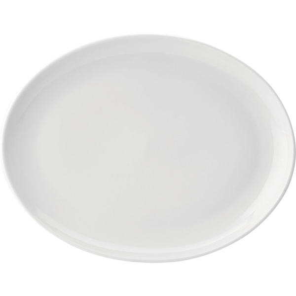 Pure White Oval Plates