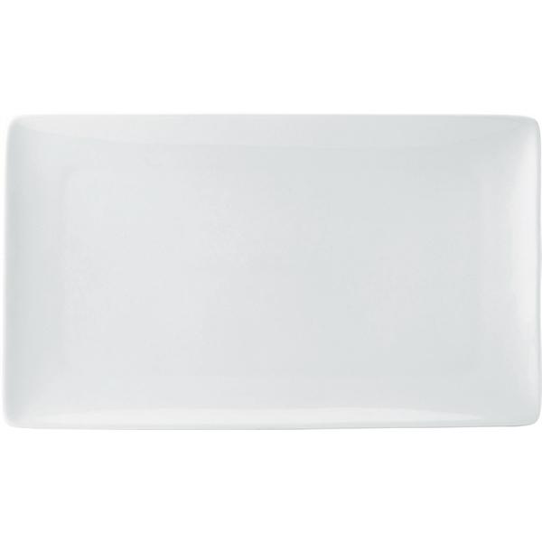 Pure White Rectangular Plates