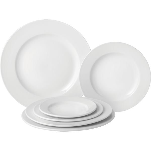 Pure White Wide Rim Plates