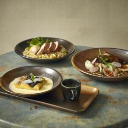 Rustic Copper Terra Tableware